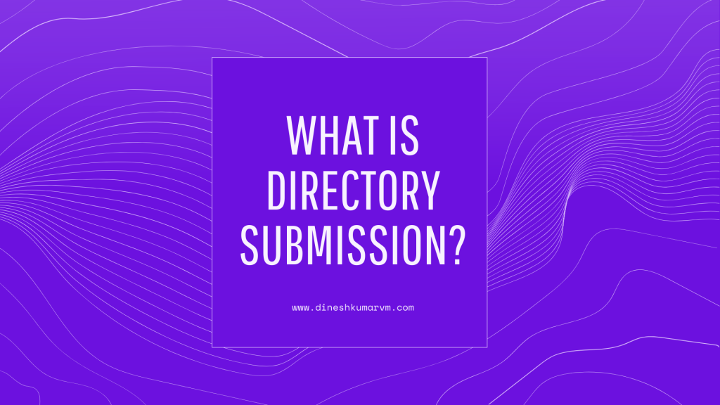 what is directory submission