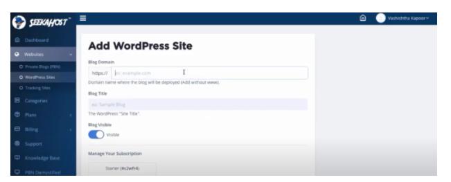 How To Start a WordPress Blog with the SeekaHost SeekaPanel