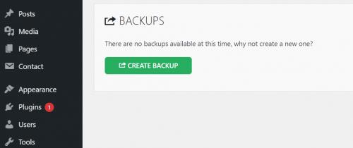 creating the backup